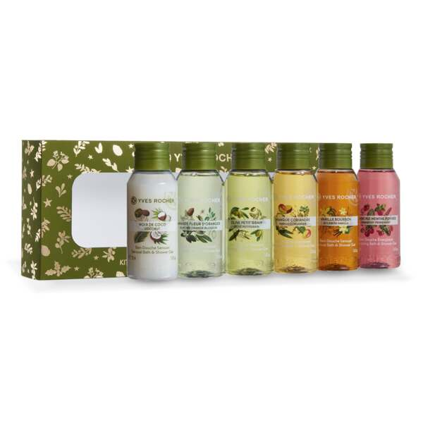 6 Mini Bath & Shower Gels - Les Plaisirs Nature