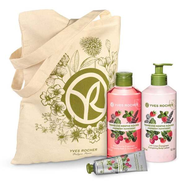 Energizing Raspberry Peppermint Body and Shower Set - 3 - Gift ideas