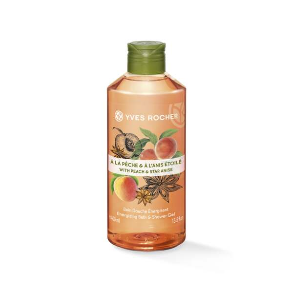 Peach Star Anise Energizing Bath and Shower Gel - 400ml