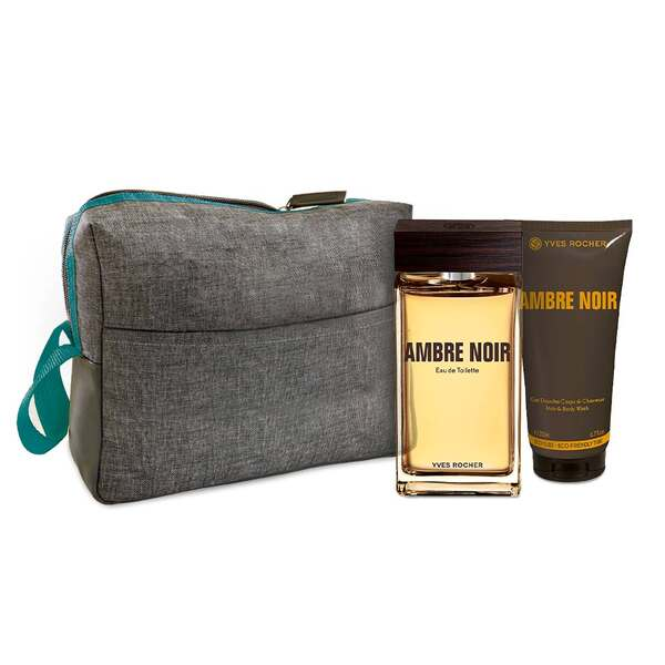 Mens Eau de Toilette and Shower Gel Set - Ambre Noir,Men Fragrance,Gift ideas