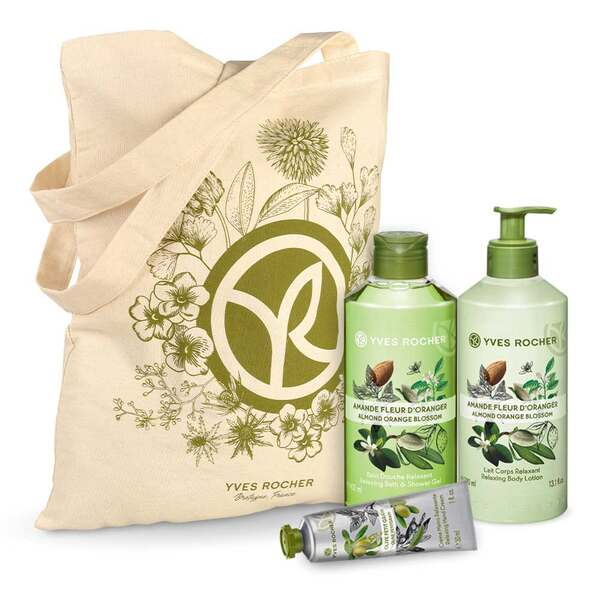 Relaxing Almond Orange Blossom Body and Shower Set - 3 - Gift ideas