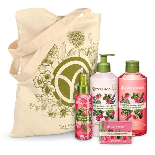 Energizing Raspberry Peppermint Body and Shower Set - 4 - Gift ideas