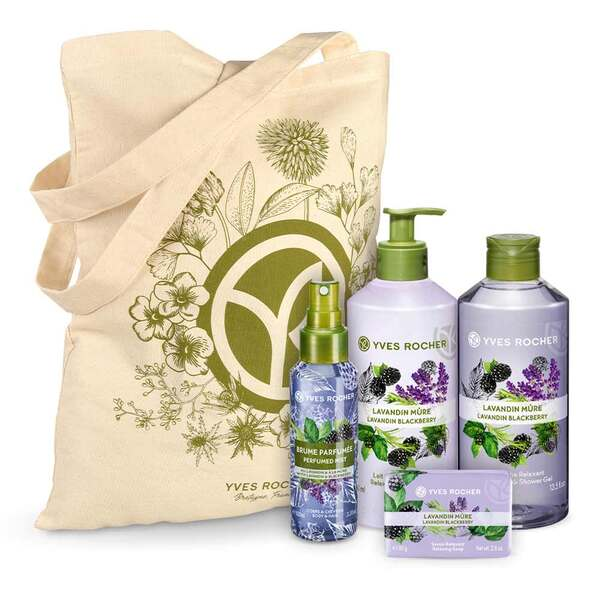 Relaxing Lavandin Blackberry Body and Shower Set - 4 - Gift ideas