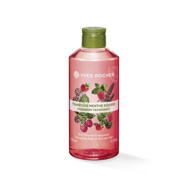 Energizing Bath and Shower Gel - Raspberry Peppermint