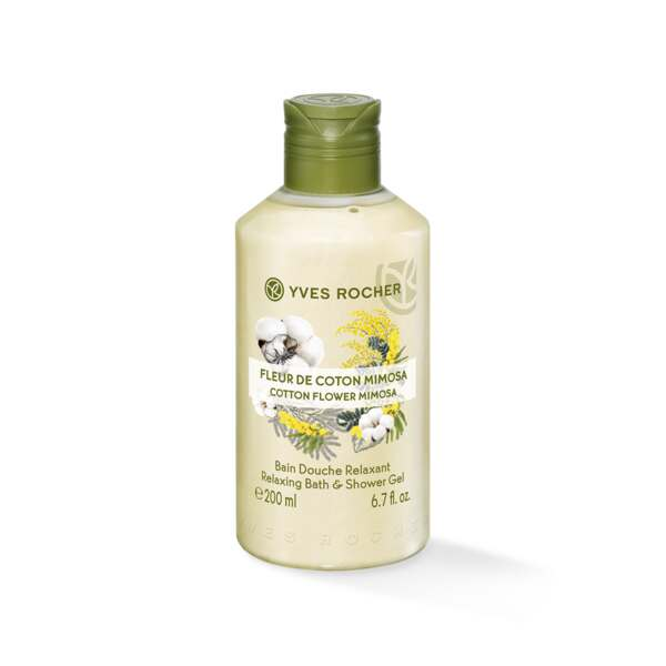 Relaxing Bath and Shower Gel - Cotton Flower Mimosa