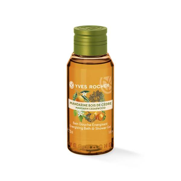 Energizing Bath & Shower Gel - Mandarin Cedar Wood - Travel Size