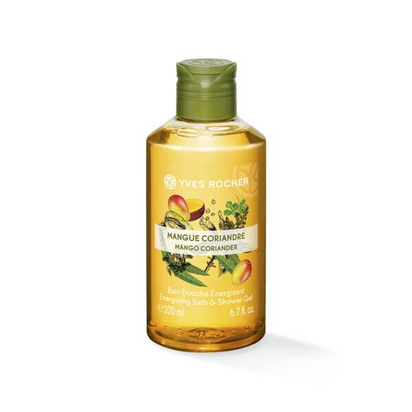 Energizing Bath and Shower Gel - Mango Coriander 200 ml