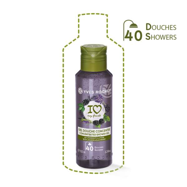 Concentrated Shower Gel Lavandin and Blackberry, For the Shower - Fruity Notes