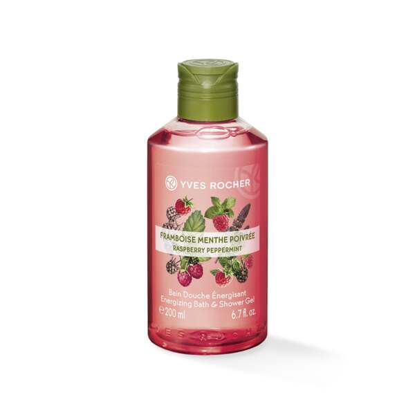 Energizing Bath & Shower Gel - Raspberry Peppermint