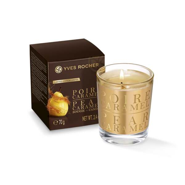 Pear Caramel Scented Candle