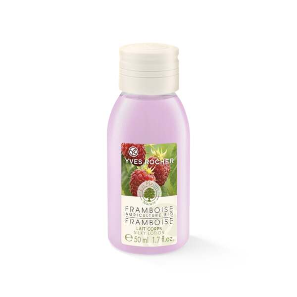 Organically-grown Raspberry Silky Body Lotion - Travel Size