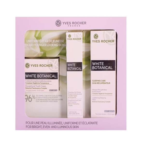 White Botanical Face Care Box Set
