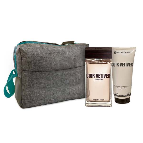 Mens Eau de Toilette and Shower Gel Set - Cuir Vetiver, Men Fragrance, Gift ideas