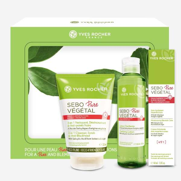 Sebo Pure Végétal kit, acne-prone skin, beauty routine