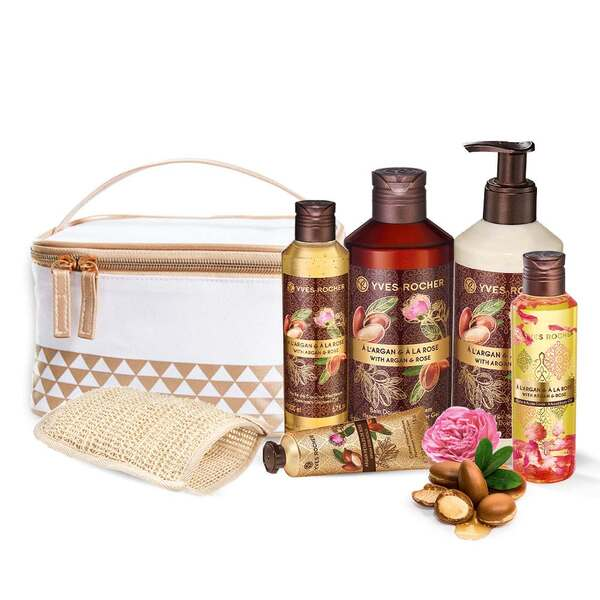 Argan Rose Gift Set - Hammam,Body care and Shower, Les Plaisirs Nature,Gift idea, beauty routine